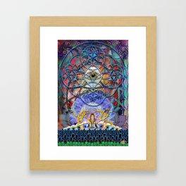 Space Shiva Framed Art Print