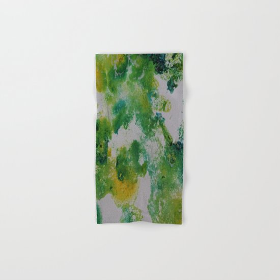 Its about space - in greens and yellows Hand & Bath Towel