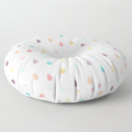 colorful rain Floor Pillow