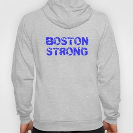 Support BOSTON STRONG Blue Grunge Hoody