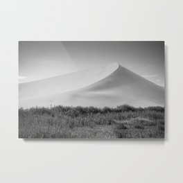 Field Mountain (Black and White) Metal Print