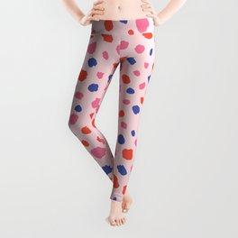 Spot Print Pink Purple Red Leggings