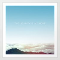 journey Art Prints featuring Journey by Galaxy Eyes