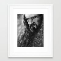 thorin Framed Art Prints featuring Thorin by AnastasiumArt