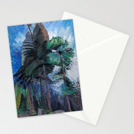 Emily Carr - Wind in the Tree Tops - Canada, Canadian Oil Painting - Group of Seven Stationery Cards