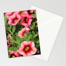 Red Pink Flowers Stationery Cards