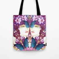 nouveau Tote Bags featuring Nouveau by Kundalini Arts