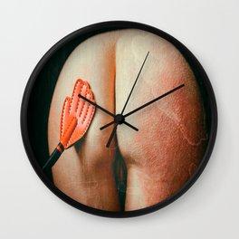 SPANKING THE FUCKING SPANK MONKEY PADDLE Wall Clock