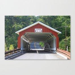 Schlicher's Covered Bridge Canvas Print