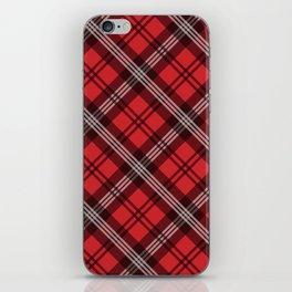 Scottish Plaid-Red iPhone Skin
