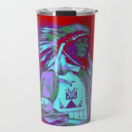 Indian Chief Pop Art Travel Mug