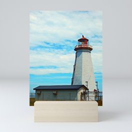 Red Light of North Cape Lighthouse Mini Art Print