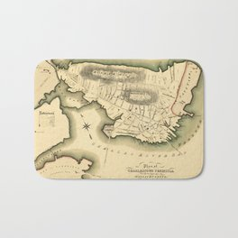 Map Of Boston 1818 Bath Mat
