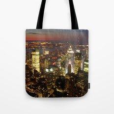New York Empire State Night Tote Bag