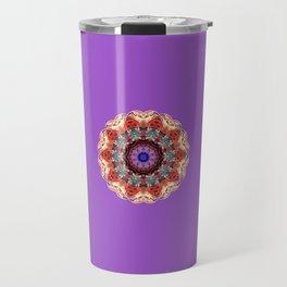 Monserrat Diamond Mandala With Amethyst Backdrop Travel Mug
