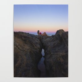 Hollywood Sunset Rocks Poster