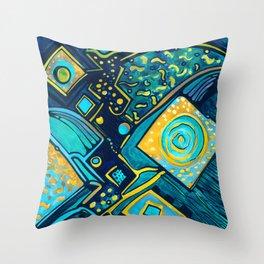GALAXY SPARKLES BLUE Throw Pillow