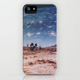 Horses in Space iPhone Case