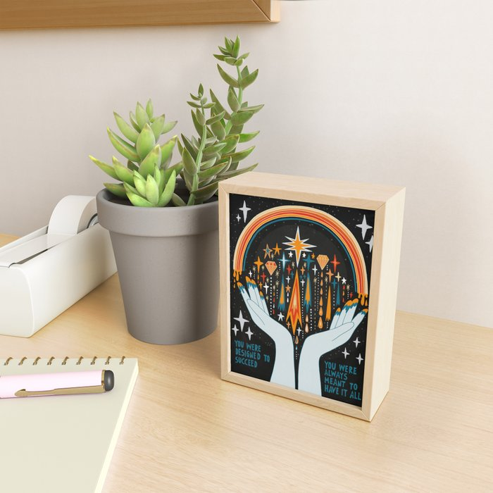 You were designed to succeed Framed Mini Art Print