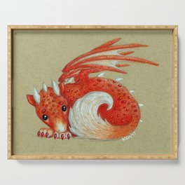 Baby Red Dragon Serving Tray