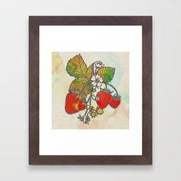 Spread Like Strawberries Framed Art Print