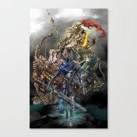 dark souls Canvas Prints featuring Dark Souls Knights of Gwyn by Donna A. / Karniz