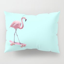 SKATE FLAMINGO Pillow Sham
