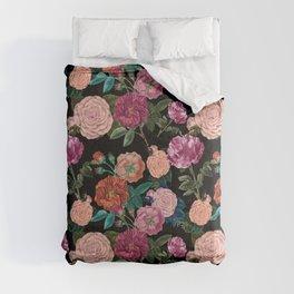 Moody Rose Garden Comforters