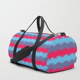 Pink Blue Violet Chevron Duffle Bag