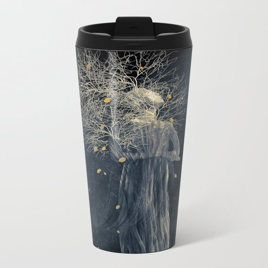 Dark portrait in autumn II Metal Travel Mug