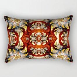 Fractal Art - Spiral in red and gold Rectangular Pillow