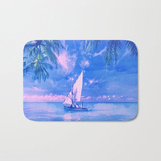 Tropical yachting Bath Mat