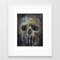 cthulu Framed Art Prints featuring Cthulhu by Michael Creese