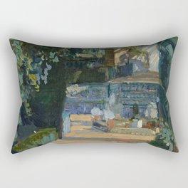 Joaquin Sorolla y Bastida Court of the Dances, Alcázar, Sevilla, 1910, Oil on canvas Rectangular Pillow