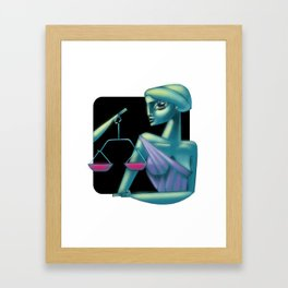 Libra sign Framed Art Print