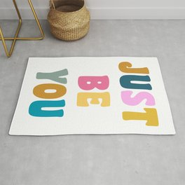 Colorful Just Be You Lettering Rug