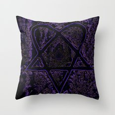 Nightmare Heartagram Throw Pillow