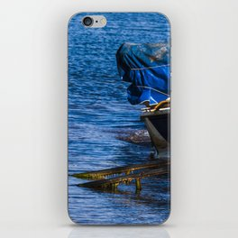 Boats at seaside in the turkish blue aegean sea iPhone Skin