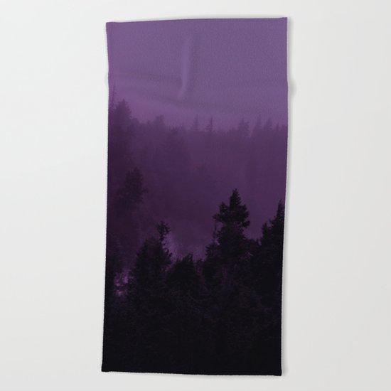 Purple Fog Beach Towel