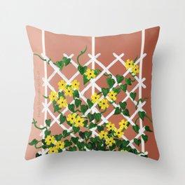 Black-Eyed Susans on Browns Throw Pillow