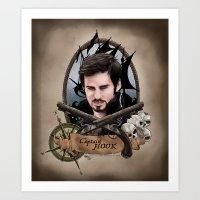 captain hook Art Prints featuring Captain Hook by artbymurrl