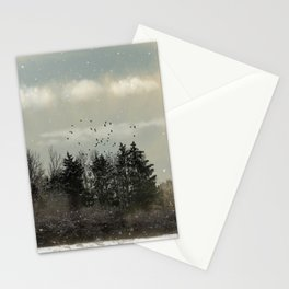 Winter, snow, frosty day. Stationery Cards