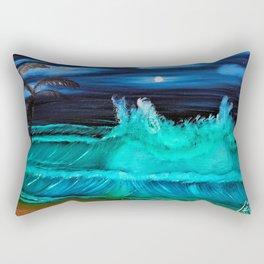 """Moonlite Tides"" Rectangular Pillow"