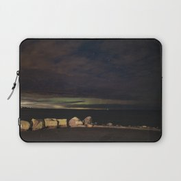 New Years eve Aurora peaking though the clouds Laptop Sleeve