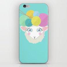 Sheepy Yarn Head iPhone & iPod Skin