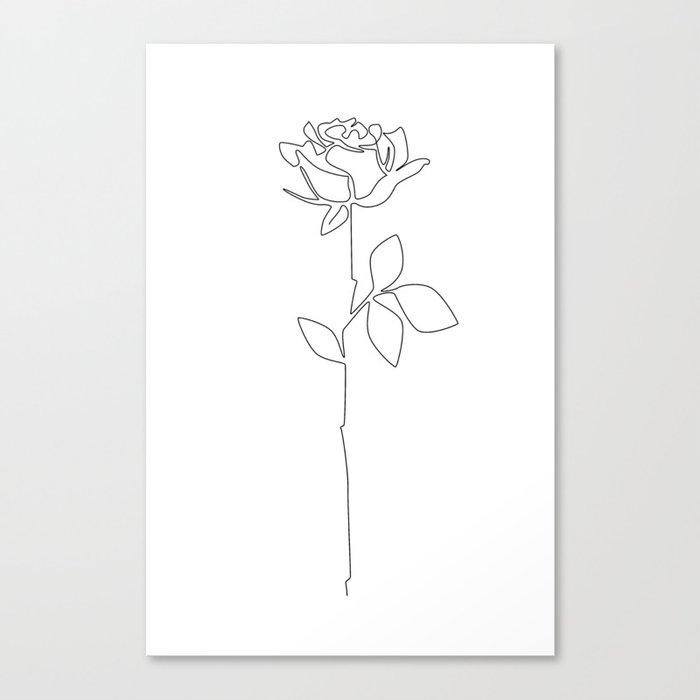 Fragile Rose Canvas Print