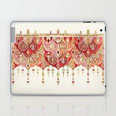 Royal Red Art Deco Double Drop Laptop & iPad Skin