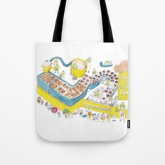 Robots make the best donuts Tote Bag