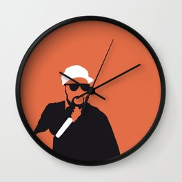 No073 MY WuTangClan Minimal Music poster Wall Clock