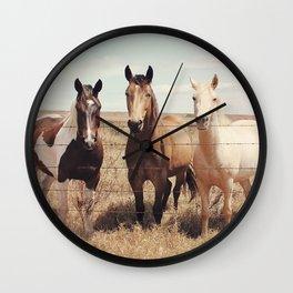 Horses Art Print, Horse Poster, Horse Photography, Animal Portrait, Animal Art Print, Animal Prints, Animal Poster, Horse Wall Art, Horses Wall Clock